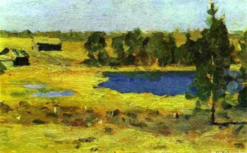 The Lake Barns at the Edge of a Forest 1898 1899 | Isaac Ilich Levitan | oil painting