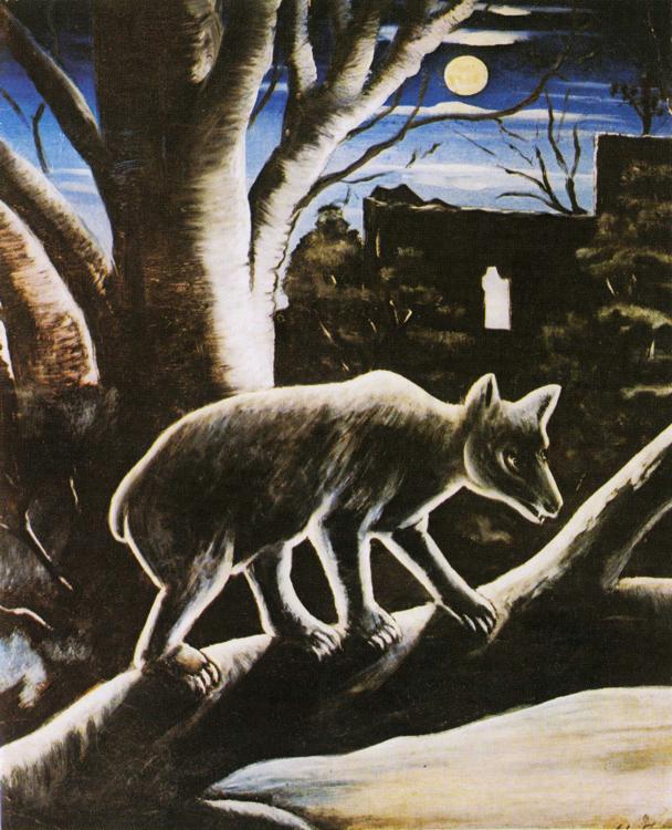 A Bear in a Moon Night | Niko Pirosman | oil painting