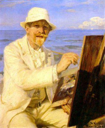 Autorretrato del pintor 1 | Peder Severin Kroyer | oil painting