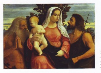 The Virgin And Child With ST John The Baptist And Job | Vittore Belliniano | oil painting