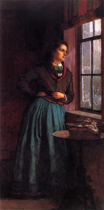 A Day Dream | Eastman Johnson | oil painting