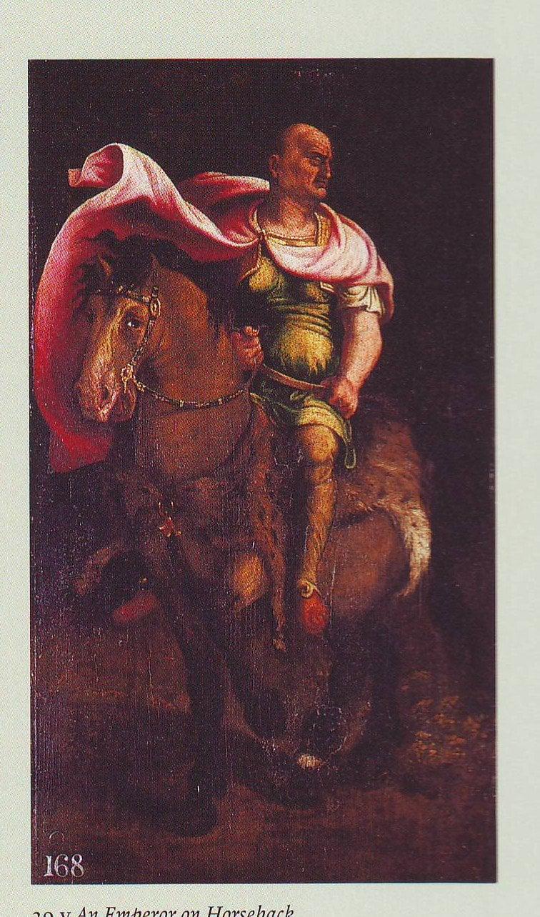 An Emperor On Horseback2   Workshop Of Giulio Romano   oil painting