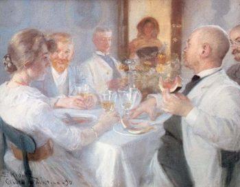 Comida en Antino | Peder Severin Kroyer | oil painting