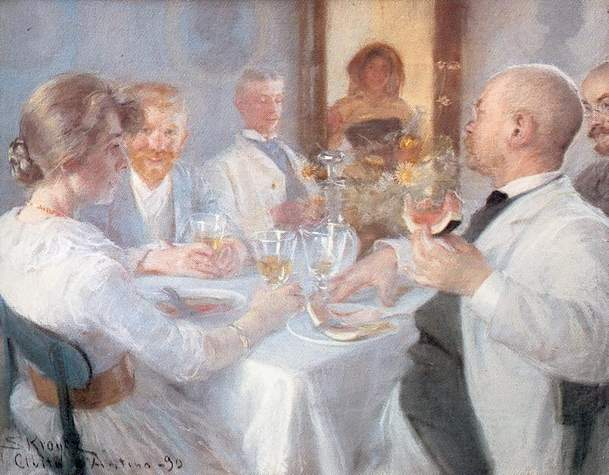 Comida en Antino | Peder Severin Kroyer | oil painting