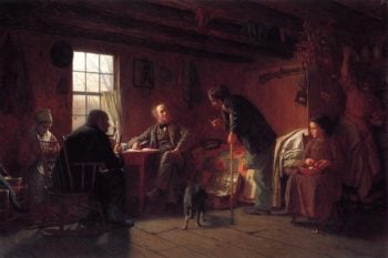 The Pension Claim Agent | Eastman Johnson | oil painting