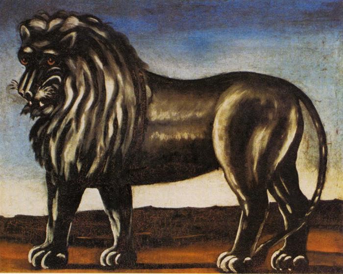 Black Lion   Niko Pirosman   oil painting