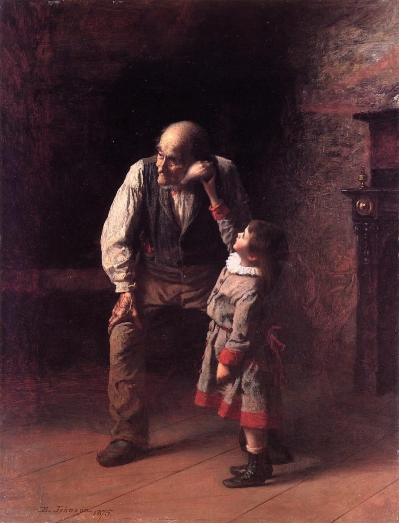 What the Shell Says | Eastman Johnson | oil painting