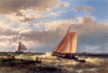 A Choppy Estuary | Abraham Hulk Snr | oil painting