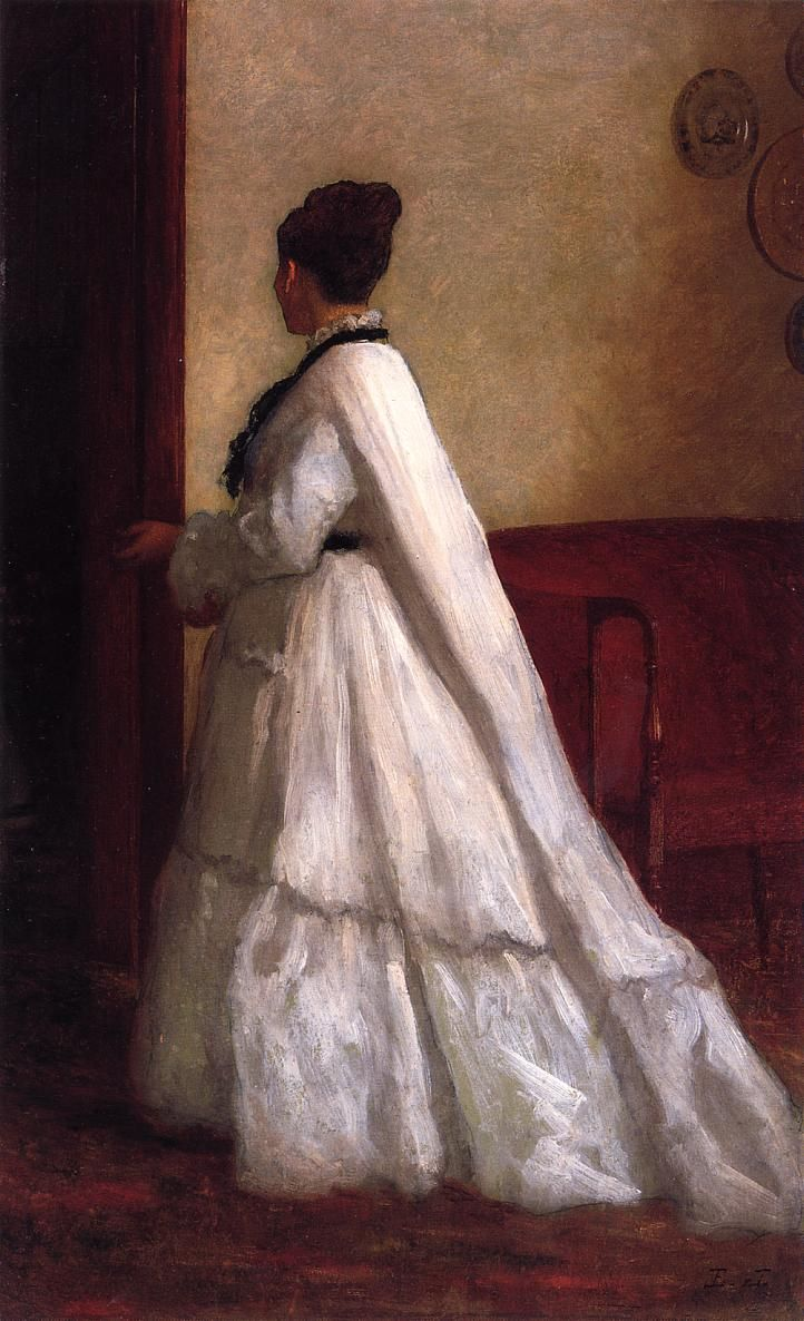 Woman in a White Dress | Eastman Johnson | oil painting