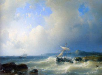 A Rocky Coast | Abraham Hulk Snr | oil painting