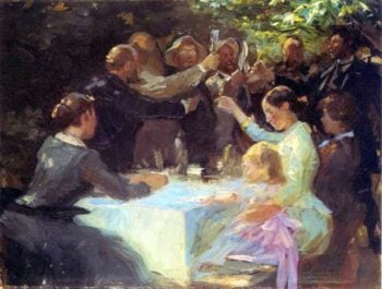 Hip hip hurray | Peder Severin Kroyer | oil painting