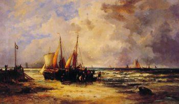 Coming Ashore | Abraham Hulk Snr | oil painting