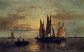 Crossing The Harbor | Abraham Hulk Snr | oil painting