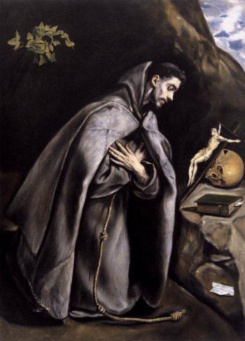 St Francis Meditating | El Greco | oil painting