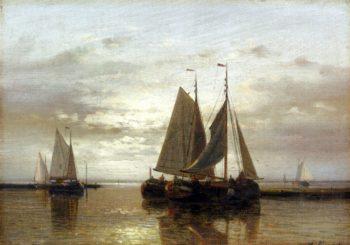 Fishing In A Calm | Abraham Hulk Snr | oil painting