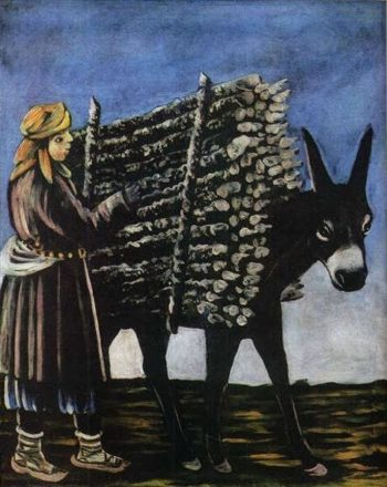 Firewood Seller | Niko Pirosman | oil painting
