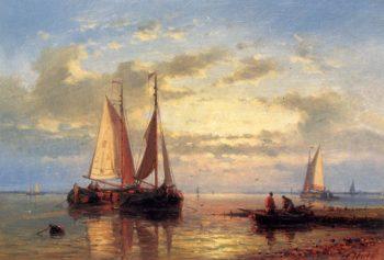 In A Calm | Abraham Hulk Snr | oil painting