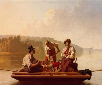 Boatmen on the Missouri | George Caleb Bingham | oil painting