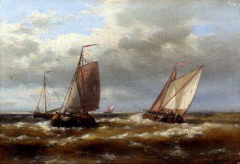 In Choppy Waters | Abraham Hulk Snr | oil painting