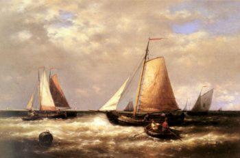 Return of the Fishing Fleet | Abraham Hulk Snr | oil painting