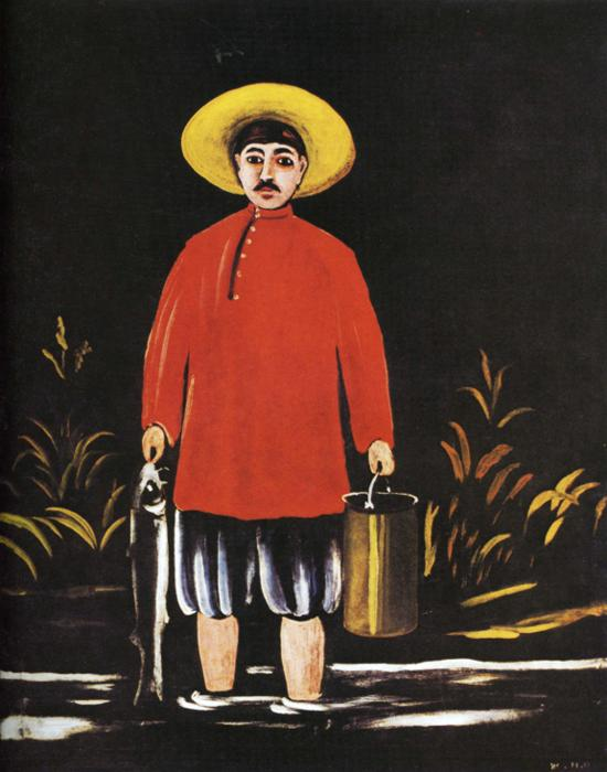 Fisherman in a Red Shirt | Niko Pirosman | oil painting