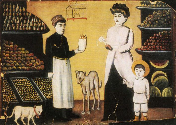 Fruit Stall | Niko Pirosman | oil painting