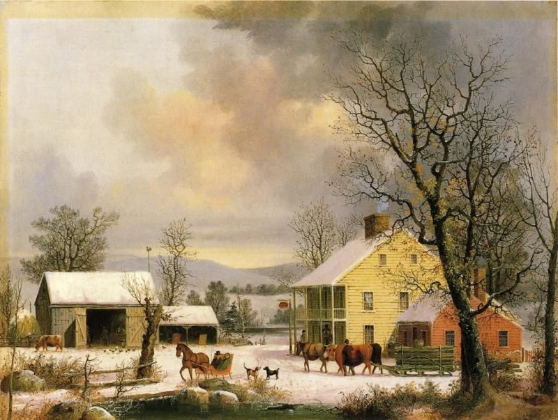 Winter in the Country | George Henry Durrie | oil painting