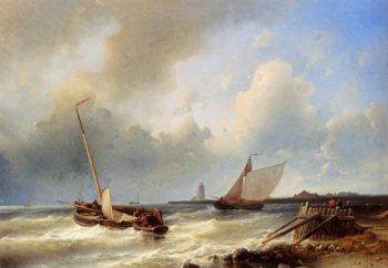 Shipping Off The Dutch Coast | Abraham Hulk Snr | oil painting