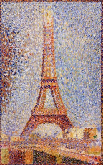 The Eiffel Tower | Georges Seurat | oil painting