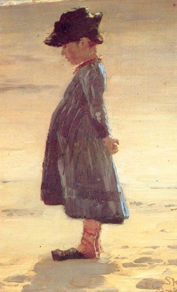 Nina en la playa | Peder Severin Kroyer | oil painting