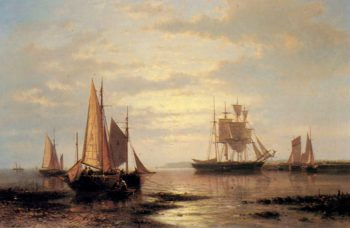 Twilight Sails | Abraham Hulk Snr | oil painting