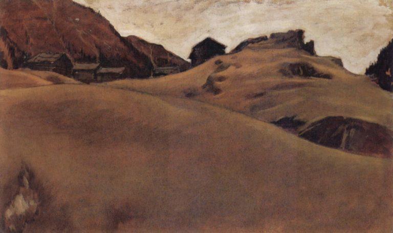 Almlandschaft im Otztal | albert egger lienz | oil painting