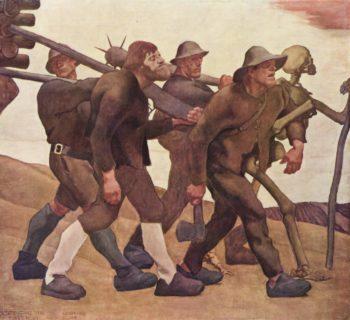 Der Totentanz von Anno Neun | albert egger lienz | oil painting
