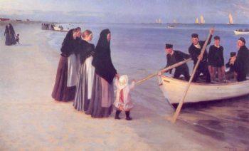 Pescadores en Skagen | Peder Severin Kroyer | oil painting