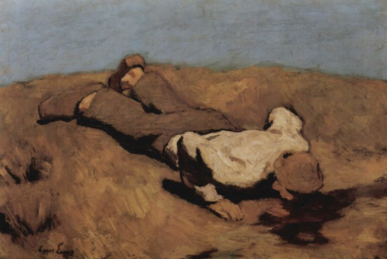 Die Quelle | albert egger lienz | oil painting