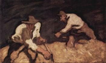 Die Schnitter | albert egger lienz | oil painting