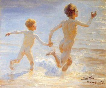 Playa de Skagen 1 | Peder Severin Kroyer | oil painting