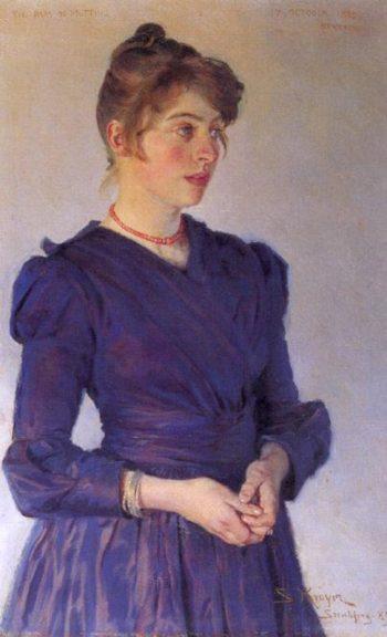 Portrait of Marie Kroyer | Peder Severin Kroyer | oil painting