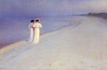 Tade de verano en la playa | Peder Severin Kroyer | oil painting