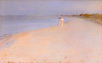 Tarde de verano en la playa | Peder Severin Kroyer | oil painting