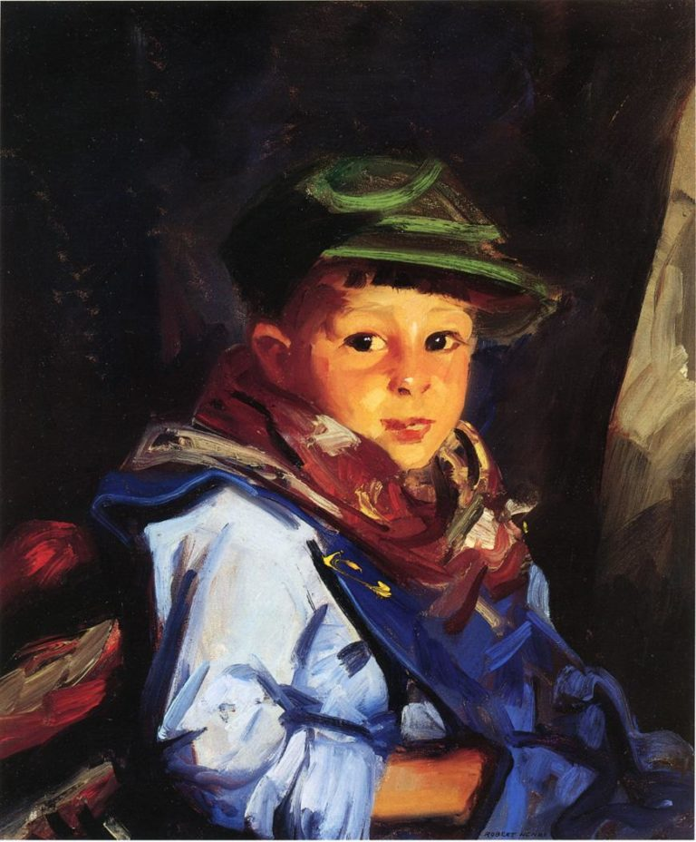 Boy with a Green Cap | Robert Henri | oil painting