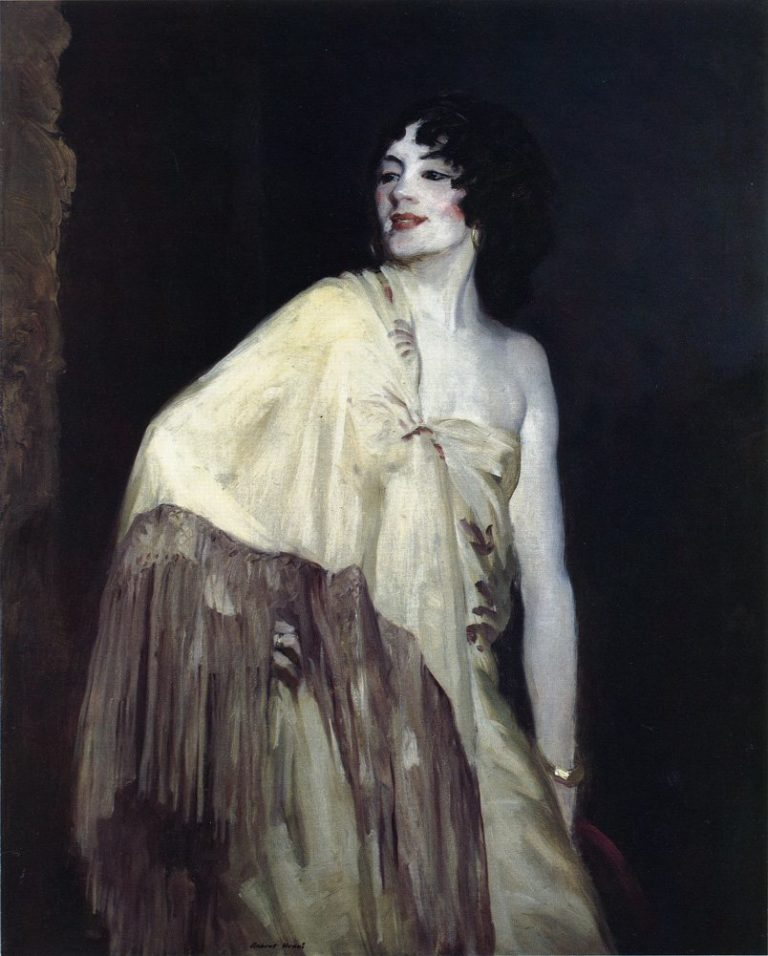 Dancer in a Yellow Shawl | Robert Henri | oil painting