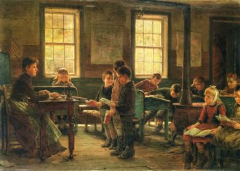 A Country School | Edward Lamson Henry | oil painting