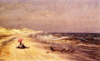 An Afternoon at the Beach | Edward Lamson Henry | oil painting