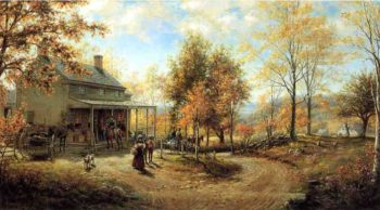 An October Day (also known as Cragsmoor Post Office) | Edward Lamson Henry | oil painting