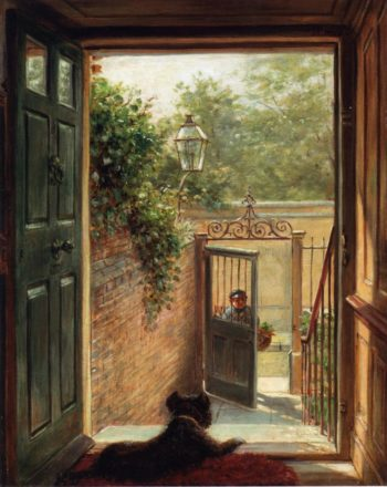A Philadelphia Doorway | Edward Lamson Henry | oil painting
