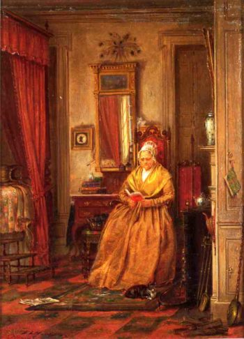 At Home with a Good Book | Edward Lamson Henry | oil painting