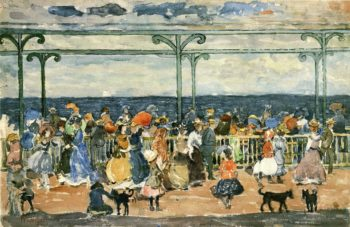 Promenade at Nantasket | Maurice Prendergast | oil painting