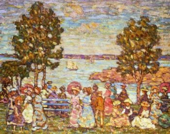 The Holiday (also known as Figures by the Sea or Promenade by the Sea) | Maurice Prendergast | oil painting