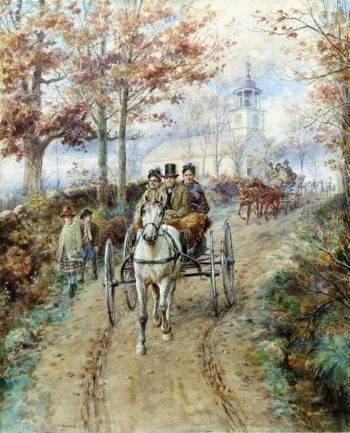 Carriage Ride | Edward Lamson Henry | oil painting